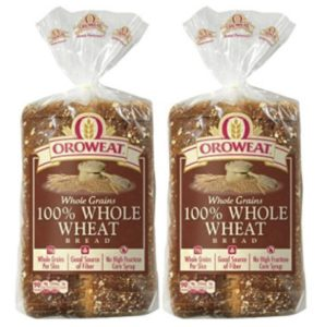 100% Whole Wheat from Oroweat.