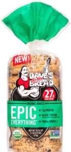 Dave's Killer Bread Epic Everything Bagels.