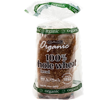 klosterman organic 100 whole wheat bread