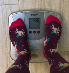 Day 77 weigh-in: 148.6