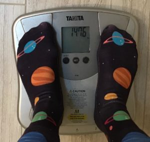 Day 70 weigh-in: 147.6 lbs