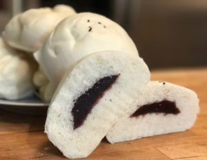 Sweet Azuki steamed buns