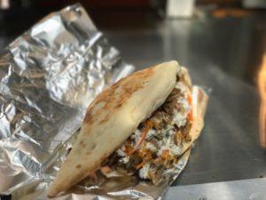 Lamb shawarma flatbread
