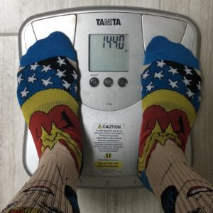 Week 5 weigh in: 144.0 lbs.