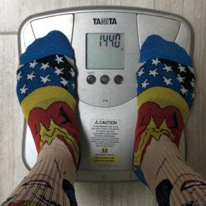 Week 5 weigh in: 144.0 lbs.