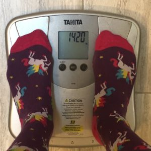 Week 10 weigh in: 142 lbs.
