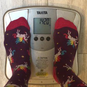 Week 10 weigh in: 142 lbs.